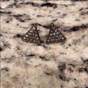 Jcrew stud diamond pyramid earrings!